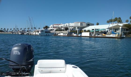 Leaving the Marina