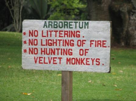 115 Velvet Monkey Sign