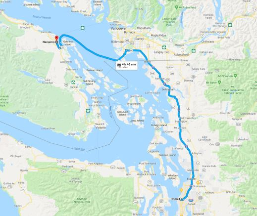 map to nanaimo